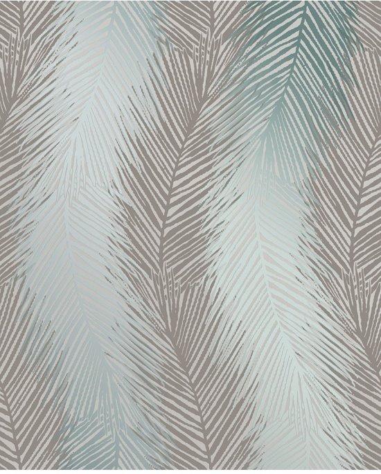 Super bol.com   Essence Leaf Wave grijs/groen behang (vliesbehang, grijs) #PU99