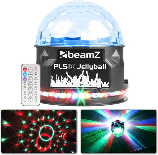 BeamZ PLS10 Jellyball lichteffect en speaker in één met Bluetooth en USB