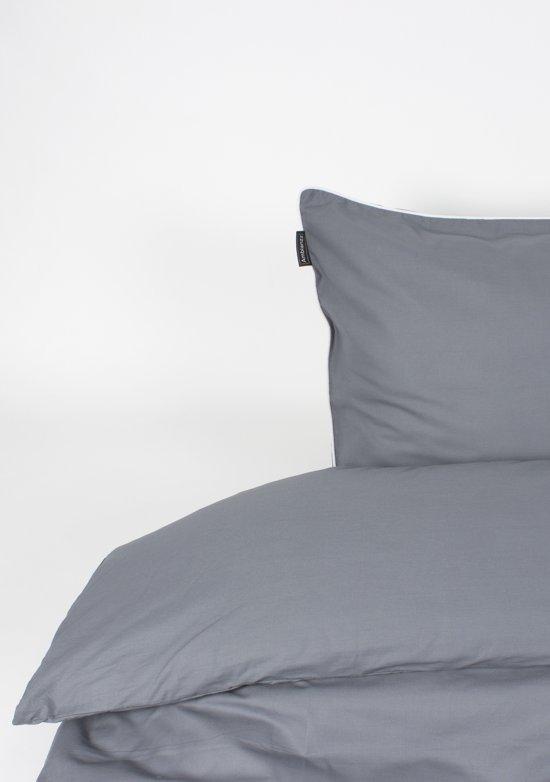 Ambianzz - Kussensloop Cotton Solid (per paar) - Katoen - 60x70 - Antraciet