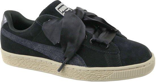 Puma Basket Heart Metallic Safari 364083-03, Vrouwen, Zwart, Sneakers maat: 37 EU