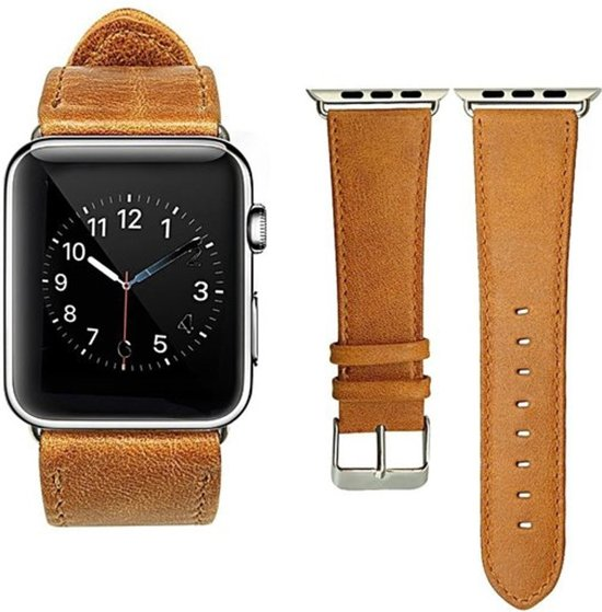 PU Lederen Band Voor Apple Watch Series 1/2/3/4 38 MM /40 MM - iWatch Armband Polsband Strap - Bruin
