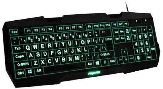 toetsenbord voor slechtziende met 3 kleuren led verlichting