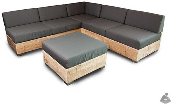 Ideale Zithoogte Loungebank.Bol Com Van Abbeve Steigerhouten Puzzle Loungebank
