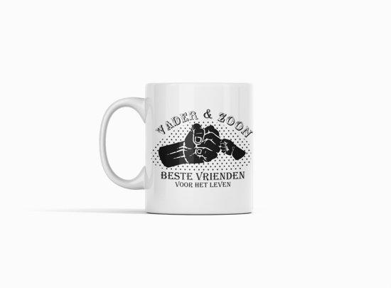 Witte Koffie Mok Beker Met Tekst Vader Zoon Beste Vrienden Voor Het Levenpapaopacadeauvaderdag