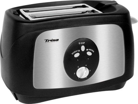 Trisa Crunchy Toast Broodrooster RVS/Zwart
