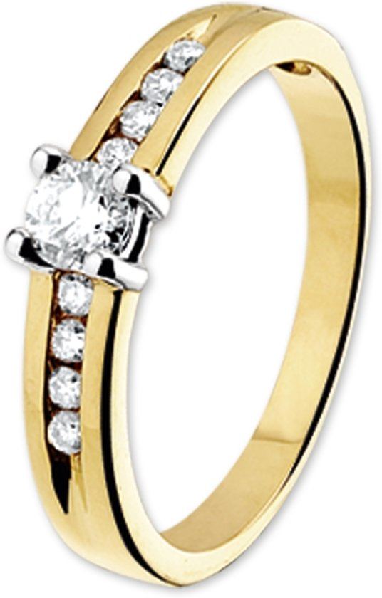 The Jewelry Collection Ring Diamant 0.40ct H P1 - Bicolor Goud