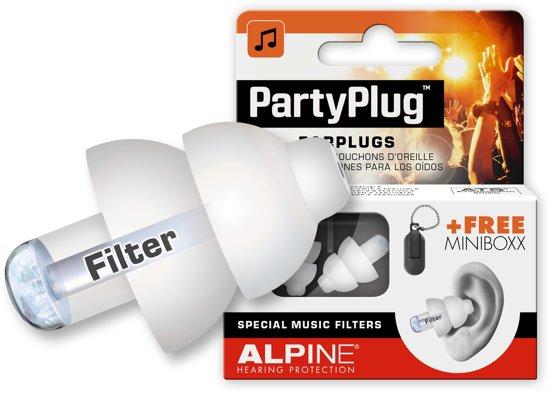 Alpine - PartyPlug - Wit - Muziekoordopjes - Gehoorbescherming - 1 paar