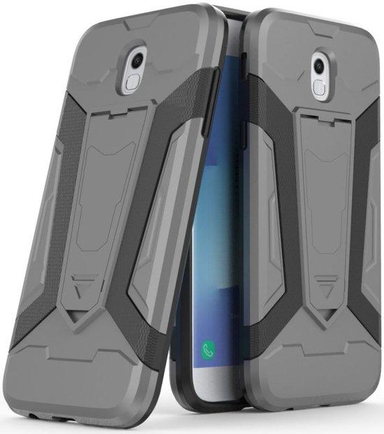 Samsung Galaxy J5 (2017) Hybride Kickstand Hoesje Grijs in Middendorp