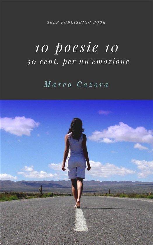 Boek cover 10 poesie 10 van Marco Cazora (Onbekend)