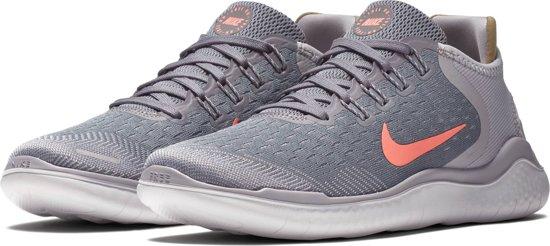 Nike Free Rn 2018 Sneakers Dames - Gunsmoke/Crimson Pulse-Atmosph - Maat 39