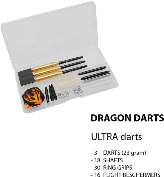 Dragon - ULTRA DARTS SET - 68 pieces Complete  Steeltip Giftset - dartpijlen - giftset