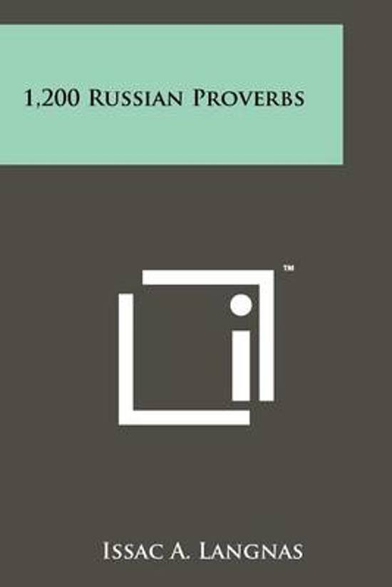 1,200 Russian Proverbs