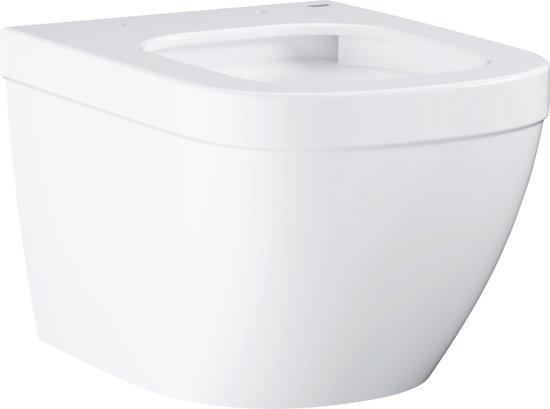 Hangend Toilet Afmetingen : Bol grohe euro hangend toilet compact keramiek wit