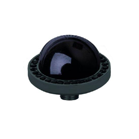 Melano vivid black cz zetting - dames - zwartkleurig - onyx - 7 mm