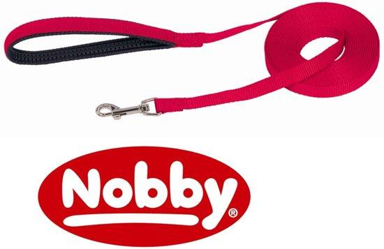Nobby looplijn plat 5m nylon rood