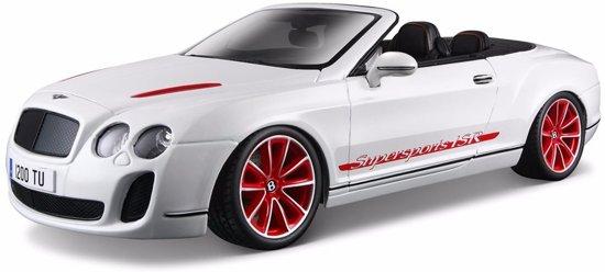 Modelauto zwarte Bentley Continental Supersports cabrio