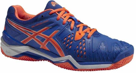 Asics Tennisschoenen Gel Resolution 6 Clay Heren Blauw Mt 50,5