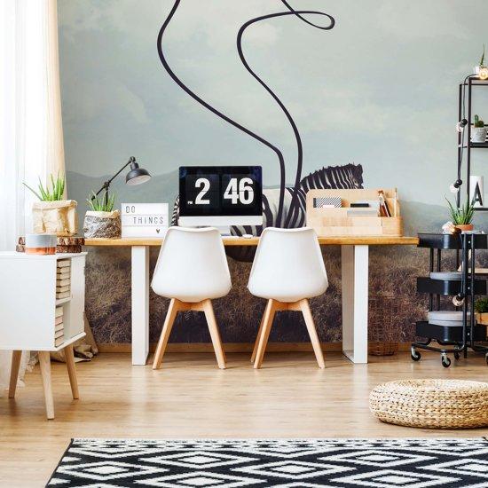 Fotobehang Zebra Stripes | VEXL - 208cm x 146cm | 130gr/m2 Vlies