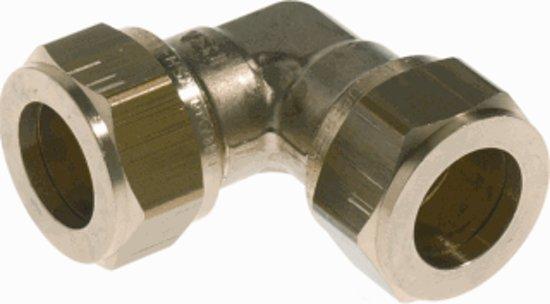 VSH knelkoppeling - knie - 22 x 22 mm - Vernikkeld
