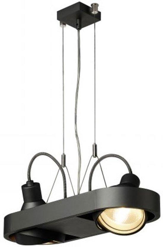 SLV AIXLIGHT R DUO QRB111 Hanglamp 2x100W Zwart 159020