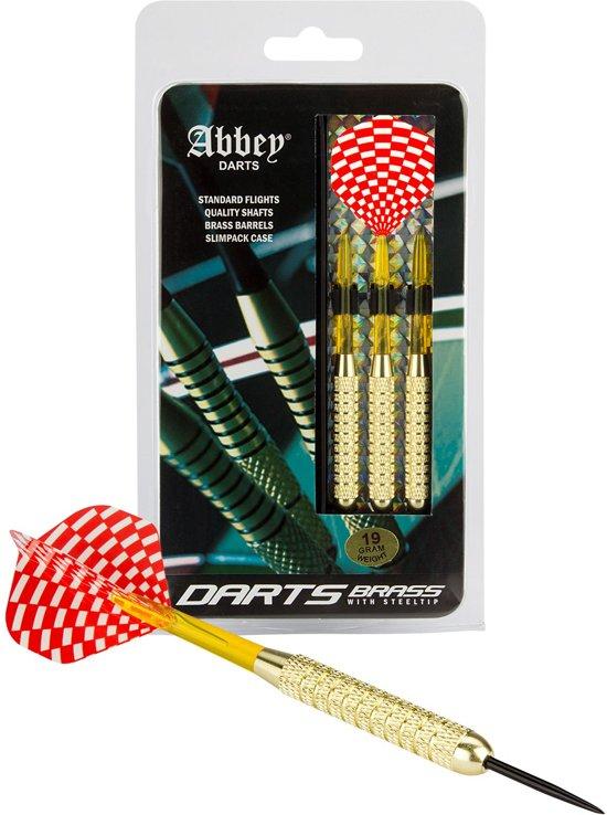 Abbey Darts Darts - Brass - Rood/Wit - 19