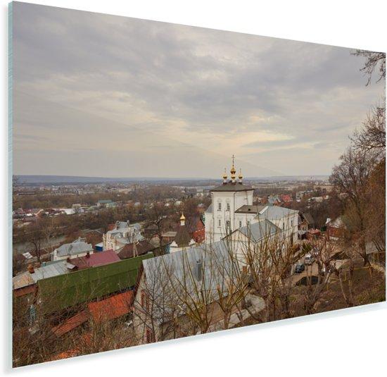 Grijze Russische skyline van Penza Plexiglas 90x60 cm - Foto print op Glas (Plexiglas wanddecoratie)