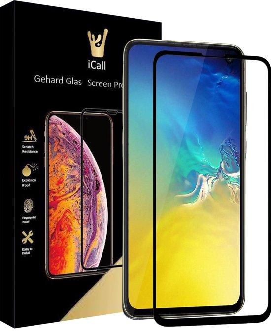 Samsung Galaxy S10e Screenprotector Glazen Gehard | Full Screen Cover Volledig Beeld | Tempered Glass van iCall