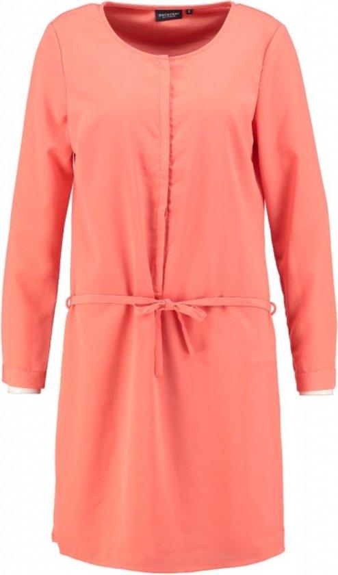 Broadway gevoerd oranje jurkje - Maat L