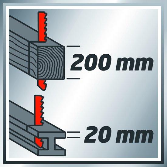 Einhell TE-AP 1050 E Reciprozaag - 1050 W - Slaghoogte: 29 mm - Inclusief 1x zaagblad