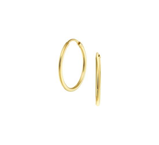 The Jewelry Collection oorringen Ronde Buis - Geelgoud (14 Krt.) - 20 mm