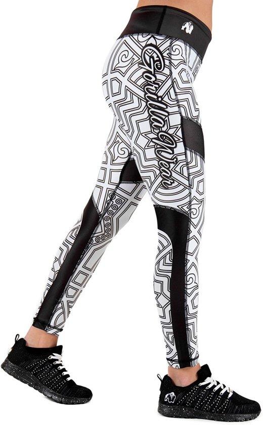 Gorilla Wear Pueblo Tights - Zwart/Wit - XL