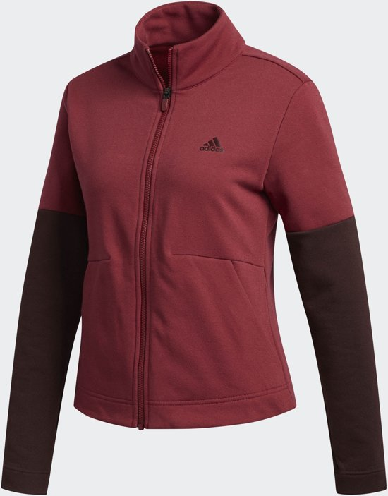 adidas W S2S Track Top Sportvest Dames - Noble Maroon/night red