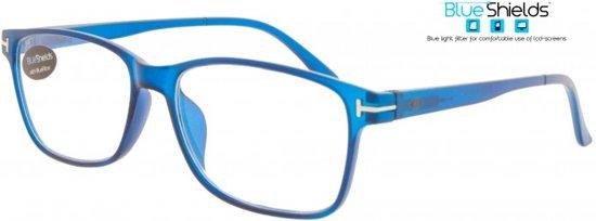 93be73074b862a Icon Eyewear TFE314 +2.00 Fortom BlueShields leesbril - Blauw licht filter  lens - Mat blauw