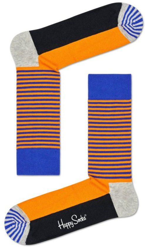 74d96c98b72 bol.com | Happy Socks Half Stripe Sock Orange, Maat 36/40