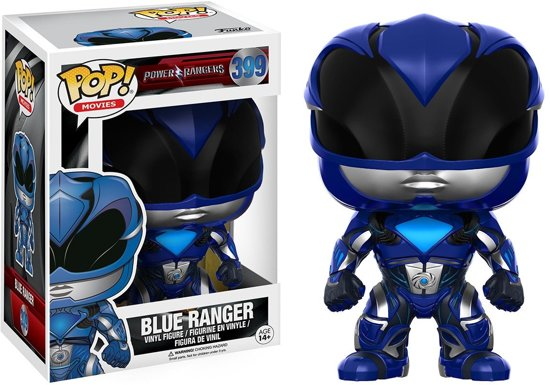 Funko Pop! Movies: Power Rangers Blue Ranger Volwassenen - Verzamelfiguur