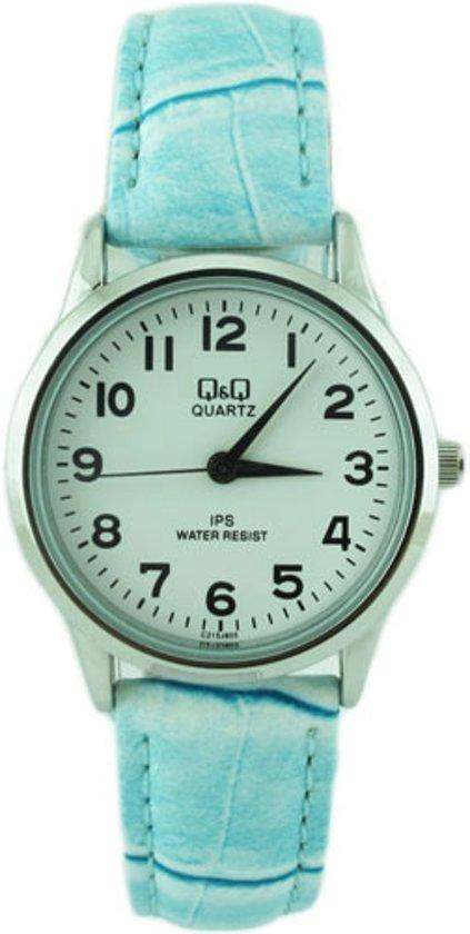 Leuke horloge met blauw band -van het merk Q&Q -C215J805Y