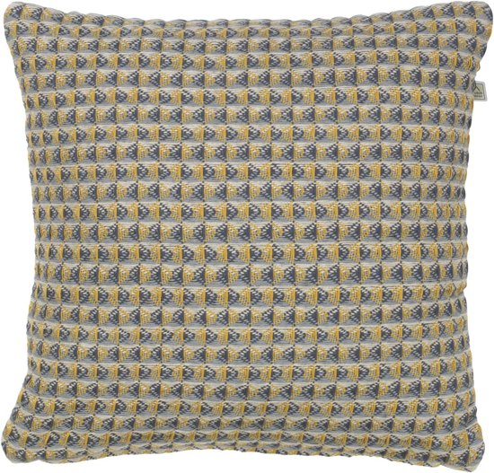 Dutch Decor Kussenhoes Aina 45x45 cm mosterd