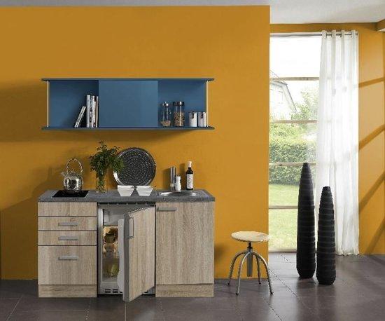 Bol.com kleine keuken klick 150cm met koelkast