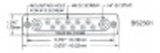 Gemeenschappelijke rails (schroeven: 20x8-32, afmeting: 231,8 x 31,8 mm) (BS2302)