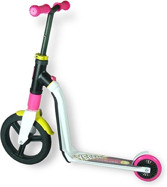 Scoot & Ride Highwayfreak step scooter loopfiets balancebike wit/rose