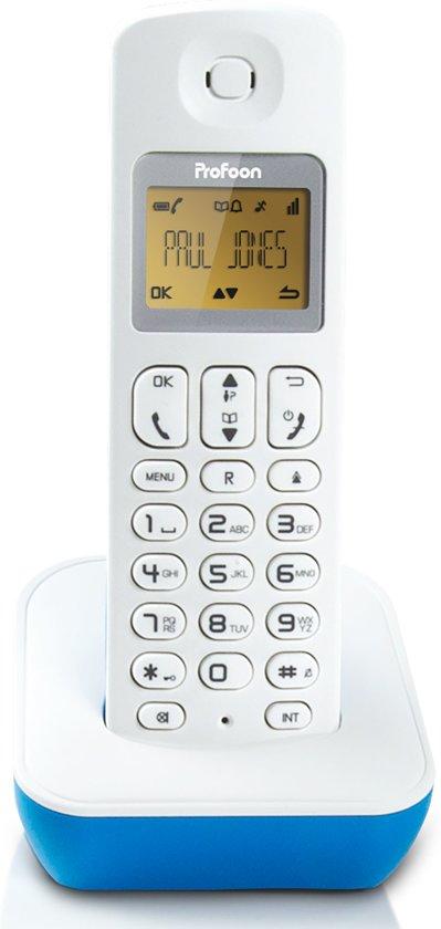 Profoon PDX-900BW - Single DECT Telefoon - Blauw