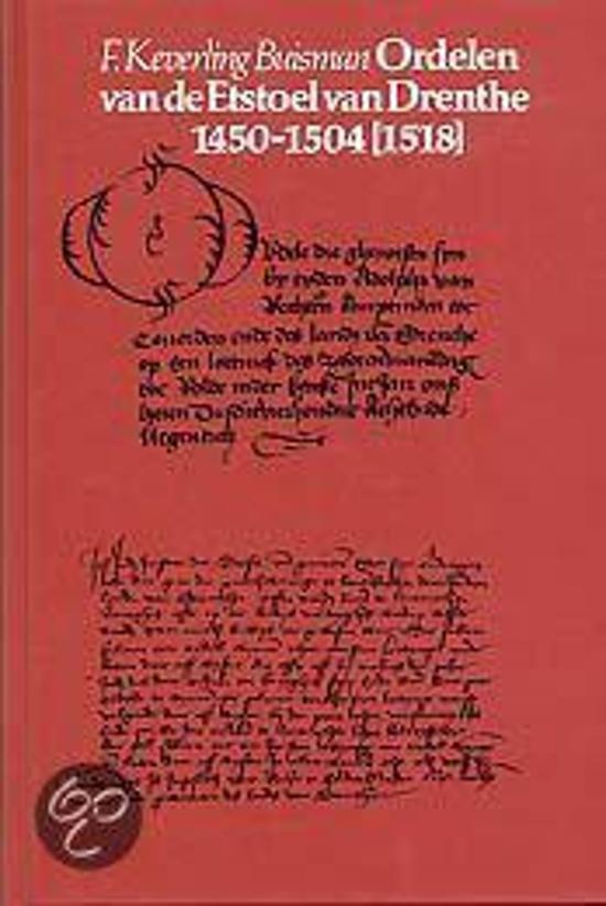 ORDELEN VAN DE ETSTOEL VAN DRENTHE 1450-