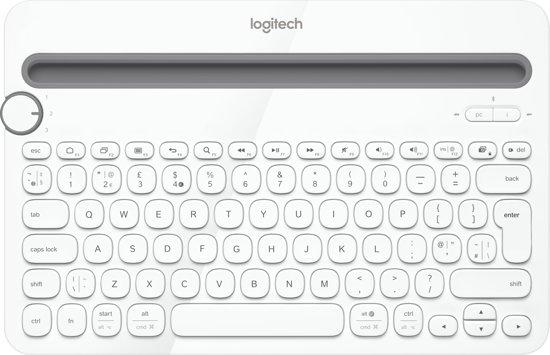 Logitech K480 Bluetooth Multi-Device - Draadloos Toetsenbord / Azerty / Frans / Wit
