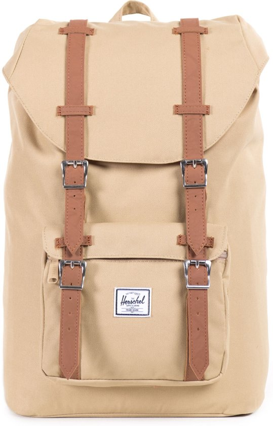 deddc67ec8e Herschel Supply Co. Little America Mid-Volume - Rugzak - Khaki / Tan PU