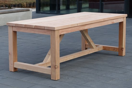 Bol tuintafel bonde cm douglas lariks houten tafel