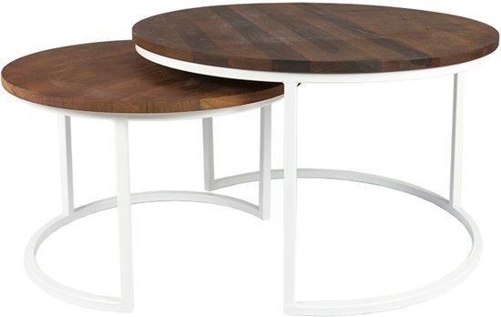 Salon Tafel Wit : Bol luxe salontafel set exclusieve mahoniehouten bladen