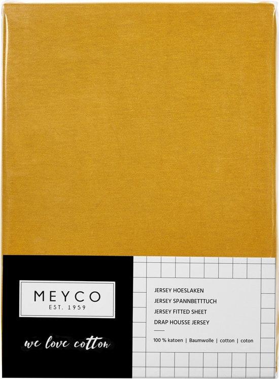 Meyco jersey hoeslaken - 40x80/90 cm - okergeel