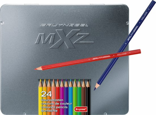 mXz blik 24 kleurpotloden