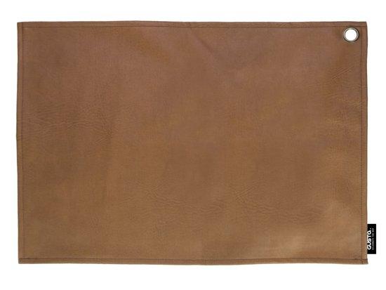 Gusta Placemat - Kunstleer - 2-Delig - 45x32cm - Cognac
