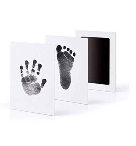 Baby voetafdruk en baby handafdruk inkt -baby cadeau (zwart)